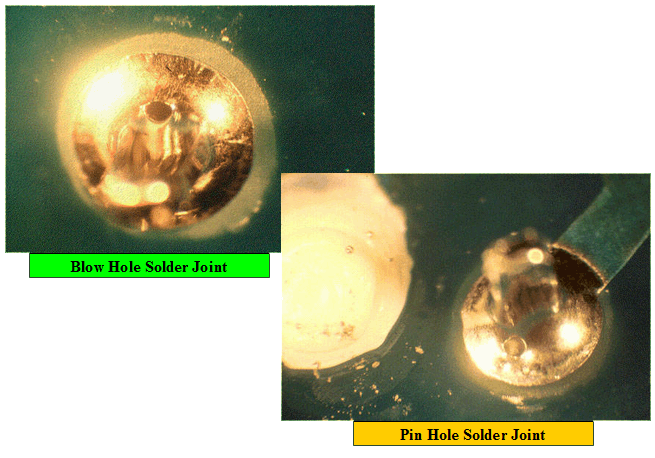 Pin Hole Blow Hole Defect during Wave Soldering