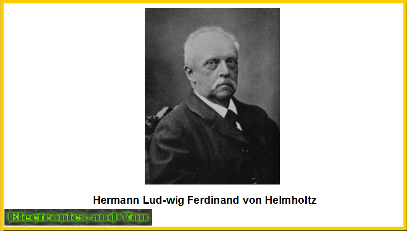 Hermann Lud-wig Ferdinand von Helmholtz